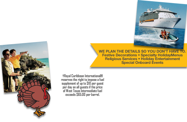 SAVE UP TO 40% OFF ORIGINAL PRICES ON SELECT HOLIDAY SAILINGS!!!