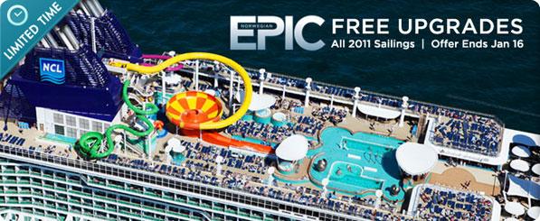 CRUISE DEALS Norwegian Epic Mini Suite Deluxe Balcony Upgrades - Norwegian epic cruise