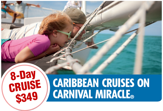 8-day Bahamas/Caribbean cruise from just $349, Carnival cruise sale from CruiseMagic