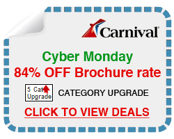 Get 84% off brochure rate on your next cruise