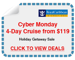 4 Day cruises from $119, reduced rate for holidays