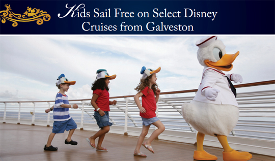 Kids Sail Free from Galveston Cruise Discount