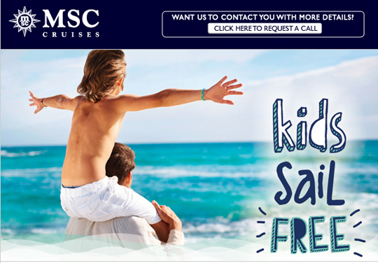 Kids Sail Free Cruise Deal From MSC Cruises Any Destination - Kids sail free