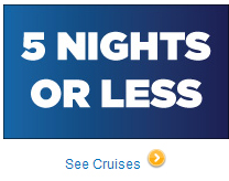 Cruise 5 Nights or less and receive $50 Onboard Credit
