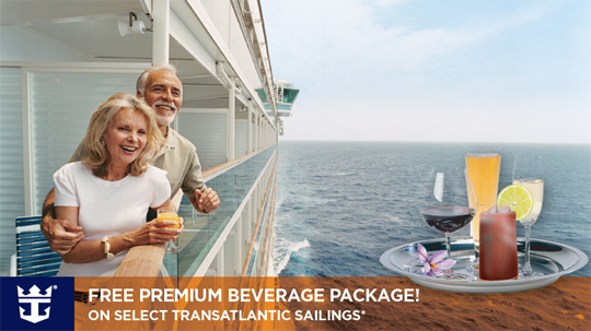 Get a Free Beverage package for 2 from CruiseMagic on your next Royal Caribbean Transatlantic cruise