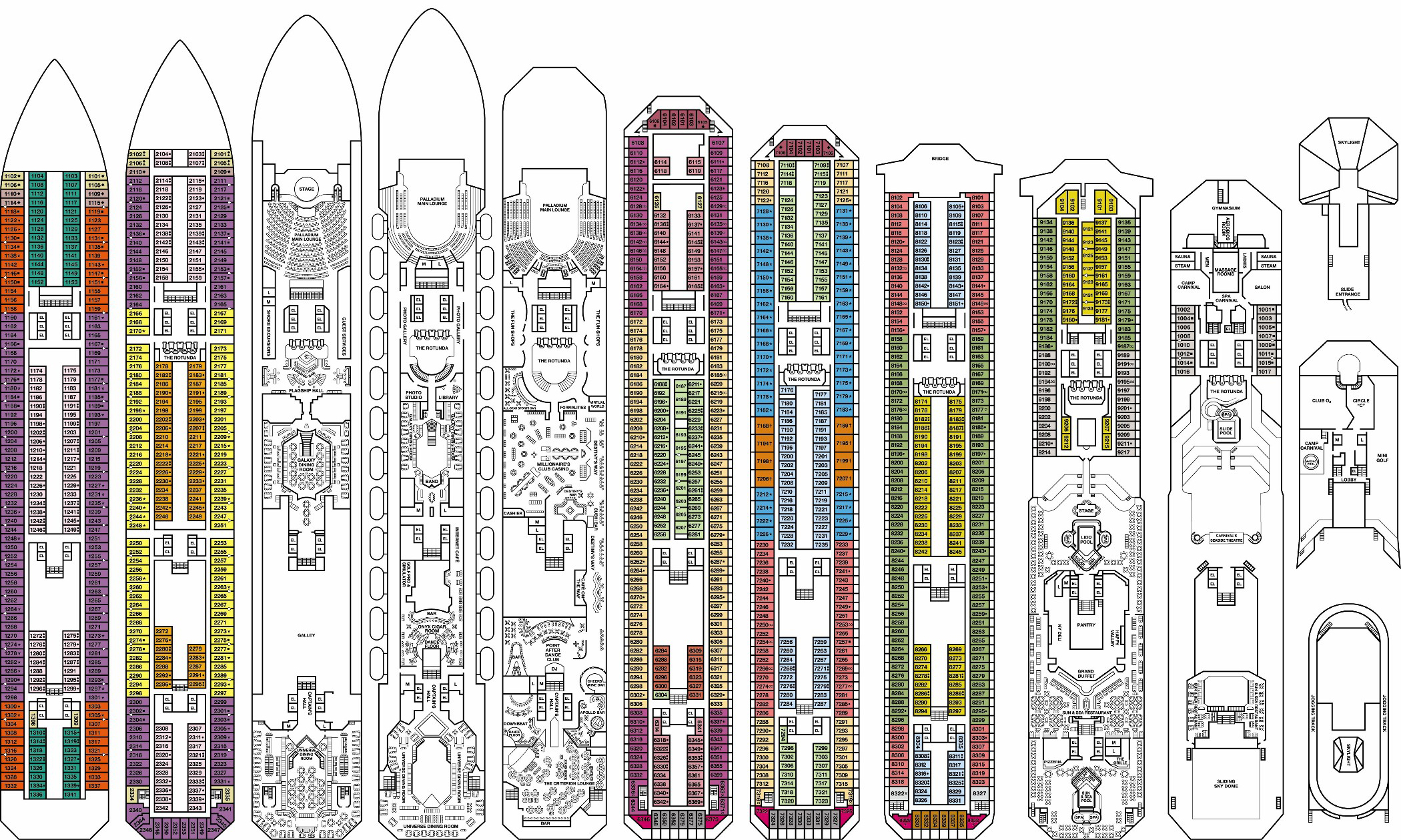 Cruise Ship Deck Plan