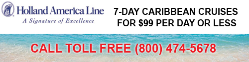 Holland America $99 Per Day Cruises to the Caribbean