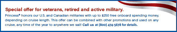 princess military discount cruises-offer
